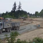 Work is progressing along the Island Highway