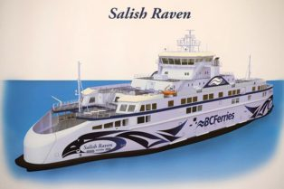 rendering of artwork for ferry