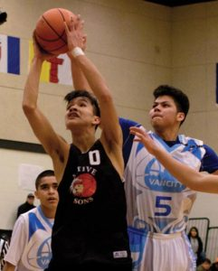 first nations youth playing basketball