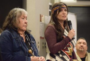 Activists speak at Indigenous Land Defenders gathering