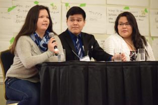 students speak at conference
