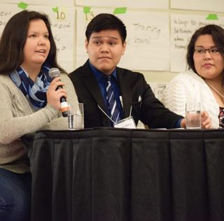 Youth speak at  'Promising Practices' event