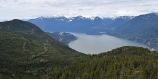 view of Squamish, BC