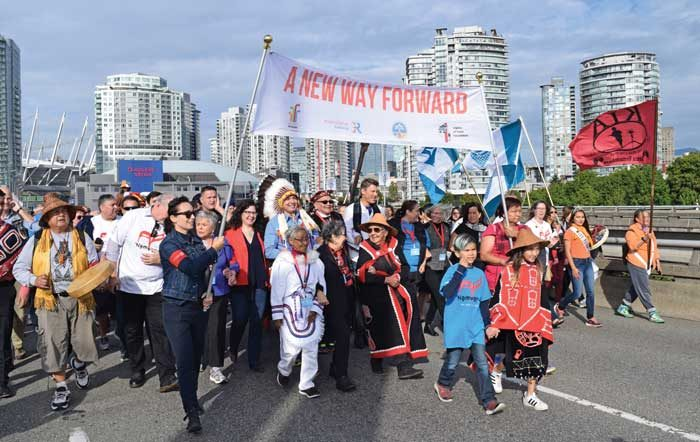 Walk for reconciliation draws tens of thousands