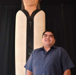 Musqueam welcoming figure 'Si'em' unveiled at SFU