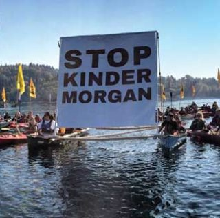 Activists 'not going to be intimidated' after arrests at Kinder Morgan terminal