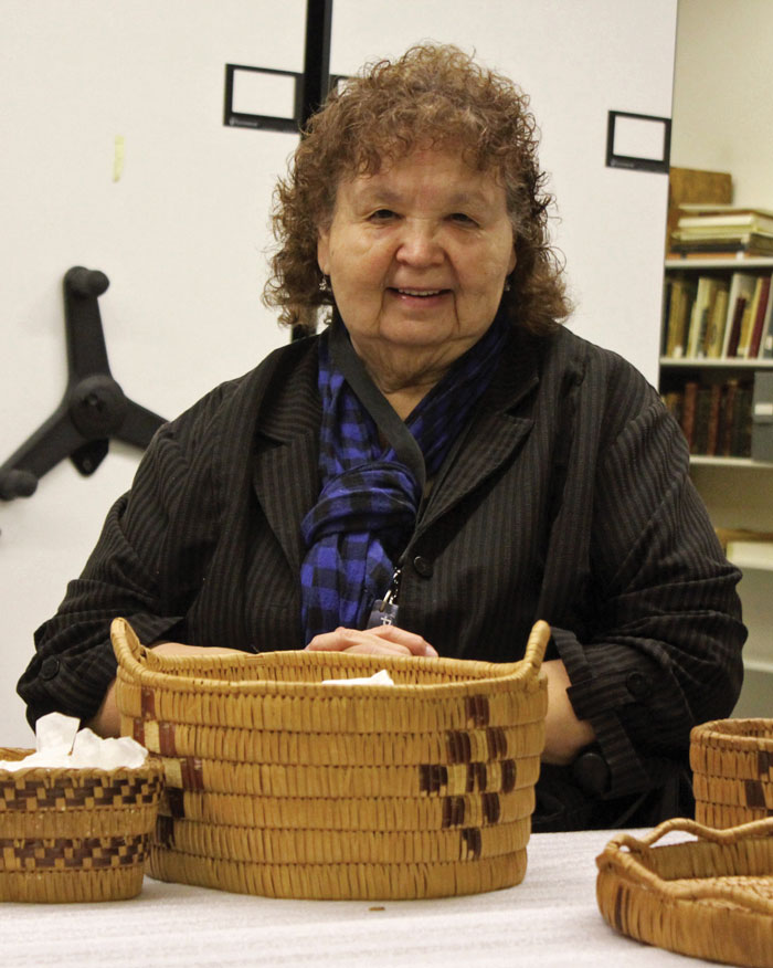 Vera Peacey with baskets