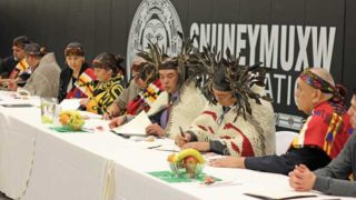 New chief, council sworn in at Snuneymuxw