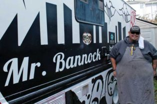 Paul Natrall with his food truck