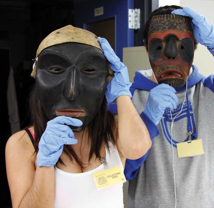 Youth with Homalco masks