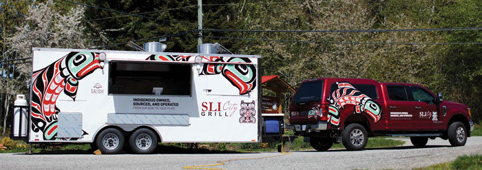 Tla'amin's Sli City Grill goes mobile