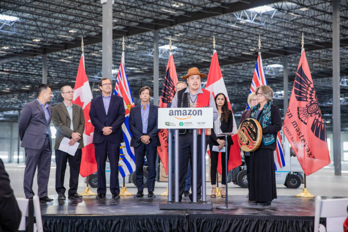 Amazon expands to Tsawwassen First Nation