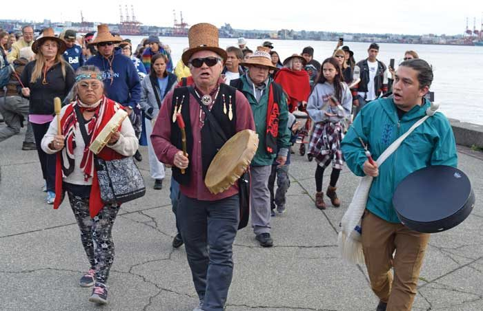Victory: Squamish Nation celebrates after court ruling halts pipeline