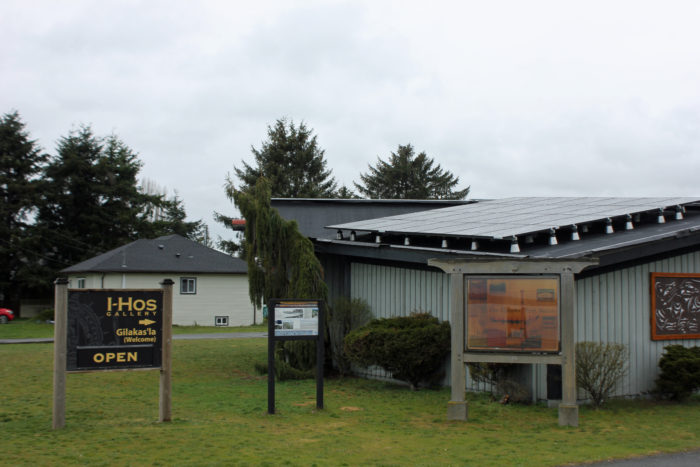 K'ómoks installs solar array at I-Hos Gallery
