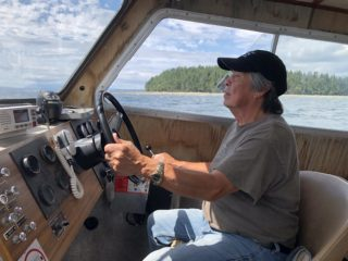 Recognizing Klahoose boat captain Hardy Francis