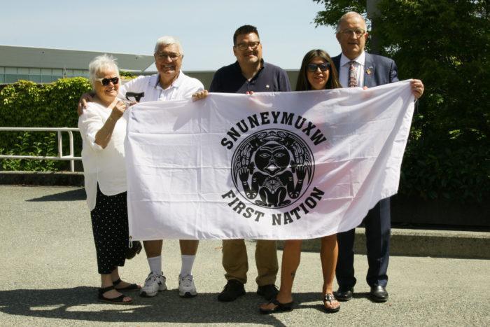 VIU raises Snuneymuxw flag on campus