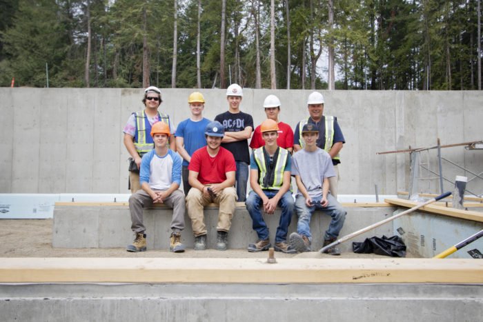 VIU carpentry students help build homes at Malahat Nation