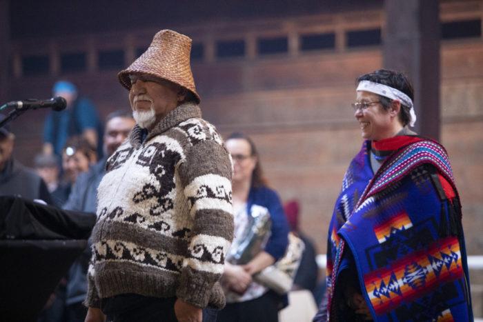 Historic longhouse ceremony installs VIU president