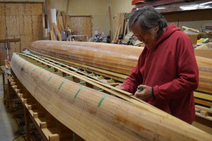 Halalt canoe builder taught himself precise craft