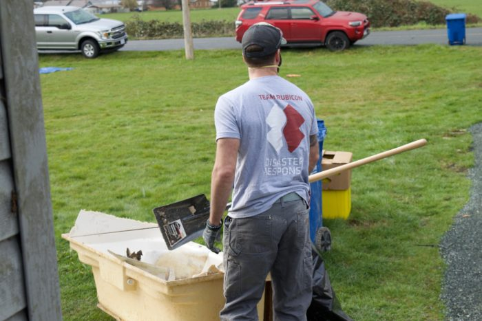 Volunteers assist with Halalt flood recovery