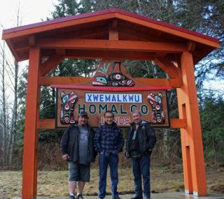 Long-awaited Homalco sign showcases Coast Salish culture