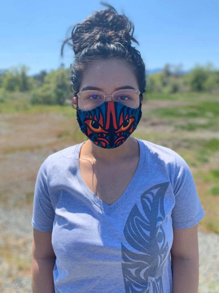 Snuneymuxw artists design COVID-19 masks